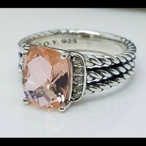 David Yurman Morganite Petite Wheaton Ring